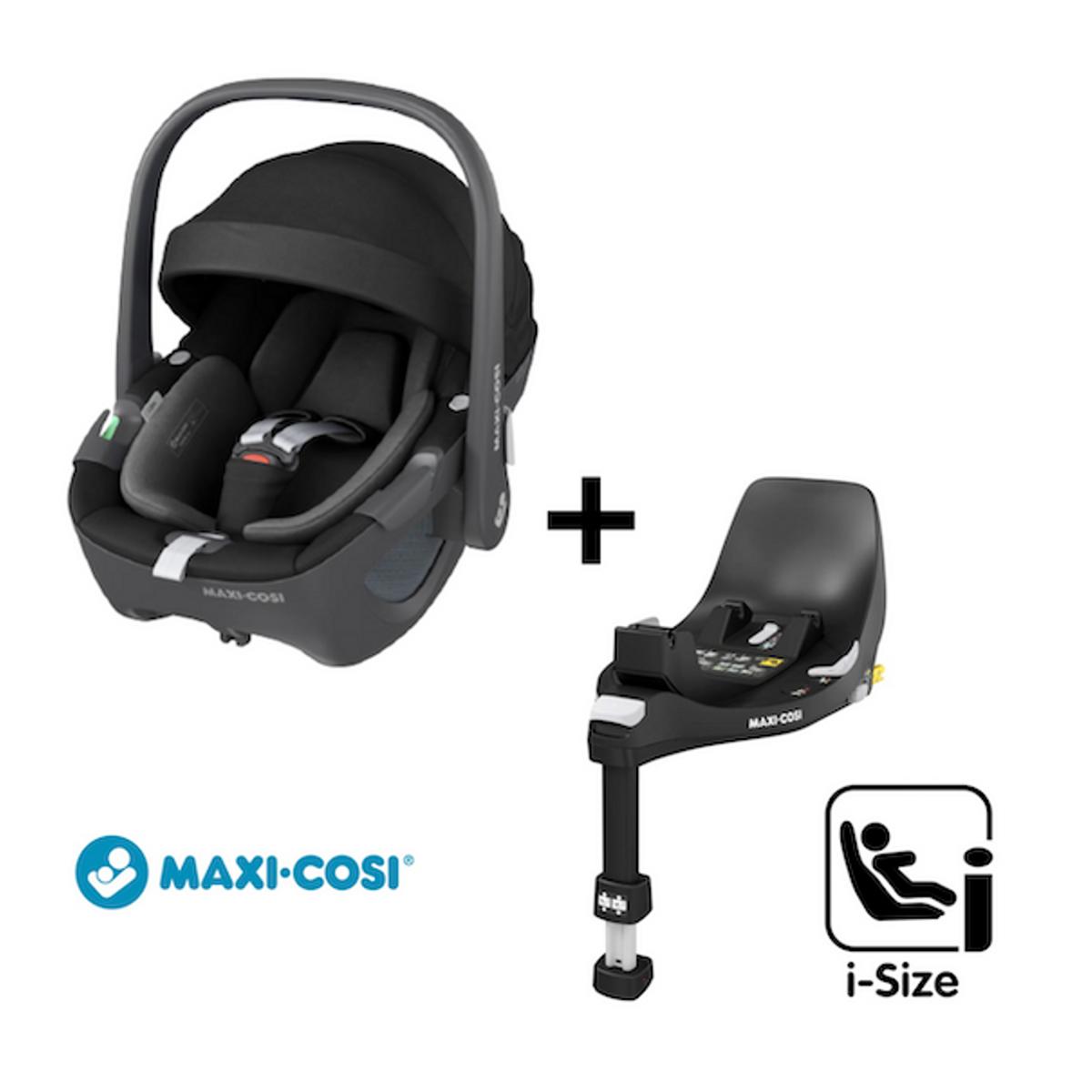 Maxi Cosi 360 | Pebble + Base | Essential Black