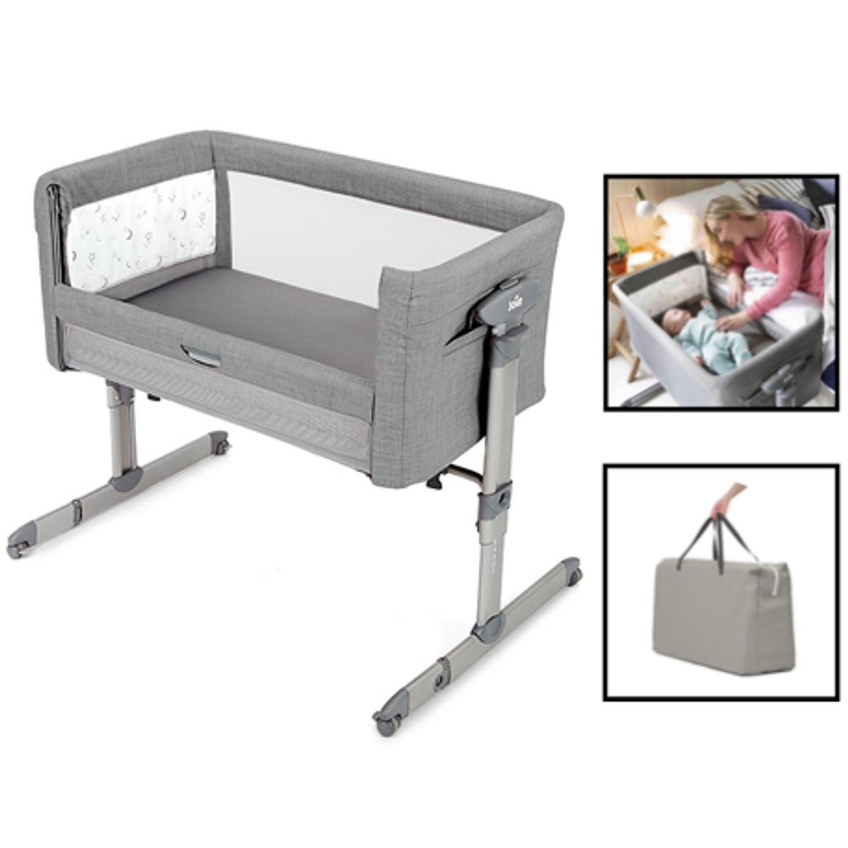 Joie   Roomie Glide   Bedside Crib   Grey