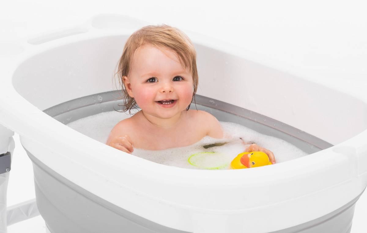 Fillikid Vario sammenleggbar badebalje | 100L | Grå & Hvit